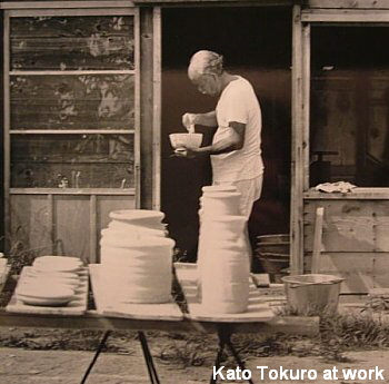 Kato Tokuro at his workshop