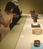 Some pieces on display at Tanabe Museum