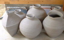 Unfired Pots