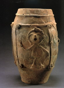 Figure-Patterned Deep Vase