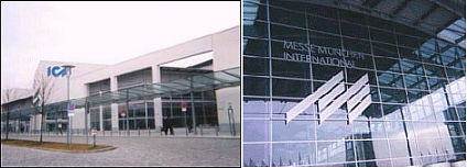 Messe Exposition Center (left) and Entrance (right)